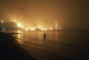 APTOPIX Greece Fires