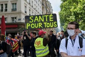 Hospital staff protest the public health system, Paris, France - 16 Jun 2020