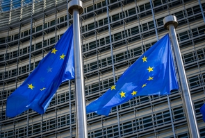 Illustrations Eu Berlaymont Flags, Brussels, Belgium - 05 Aug 2020