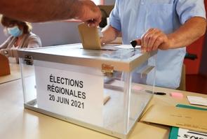 Elecctions departementale et regionales:bureau de vote.