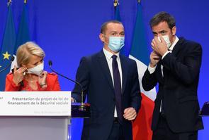 Paris: Veran, Dussopt and Bourguignon  present the 2022 social security financing bill